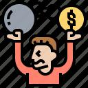 debt, finance, loan, obligation, stress icon