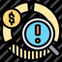 equivalent, finance, precaution, risk, segment icon