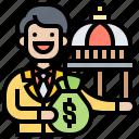 economic, fiscal, government, monetary, policy icon