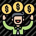 incentive, money, motivate, reward, salary icon