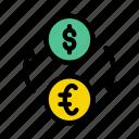 transfer, exchange, money, transaction, economy