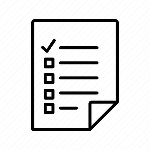 checklist, document, file, test icon