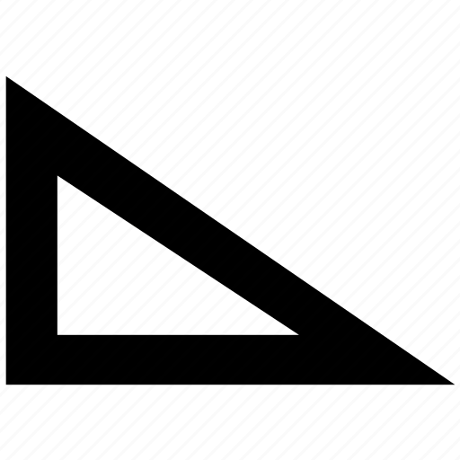 angle, bar, edit, graphics, knee, tool, triangle icon