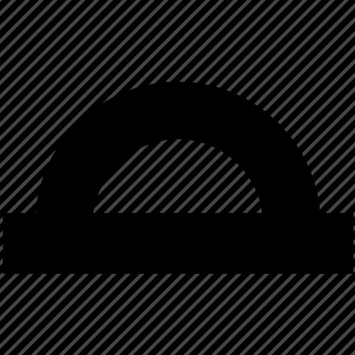 angle, edit, geometry, graphics, mesure, protractor, tool icon