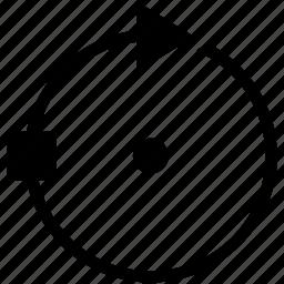 arrow, edit, graphics, right, rotate, rotation, tool icon