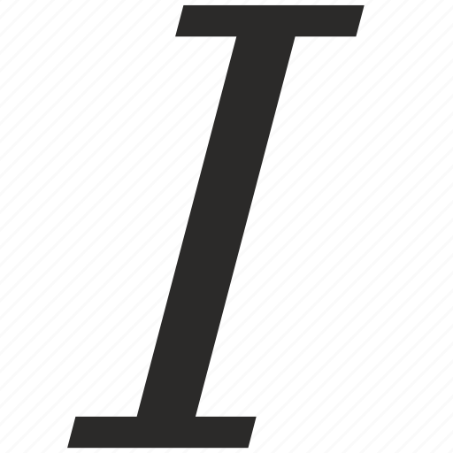 edit, format, italic, letter, text, word icon