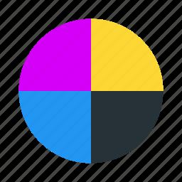 cmyk, color, colors, design, rgb icon
