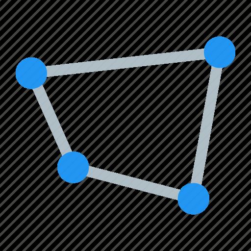 distort, free, polygon icon