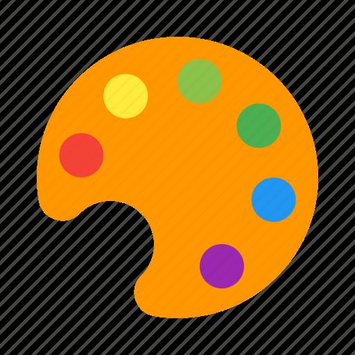 art, color, paint, painting, palette icon
