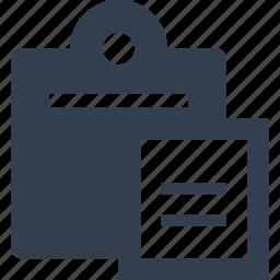 document, paste icon