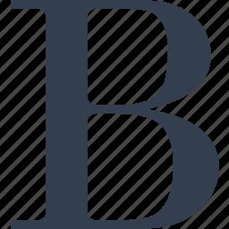 b, bold, editit, format, letter icon