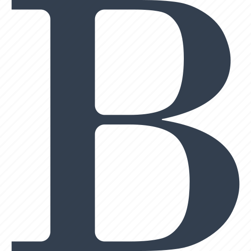 b, bold, editit, format, letter icon