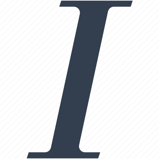 editit, format, i, italic, letter icon