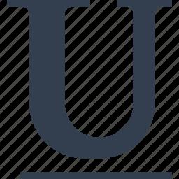 editit, format, line, u, underline icon