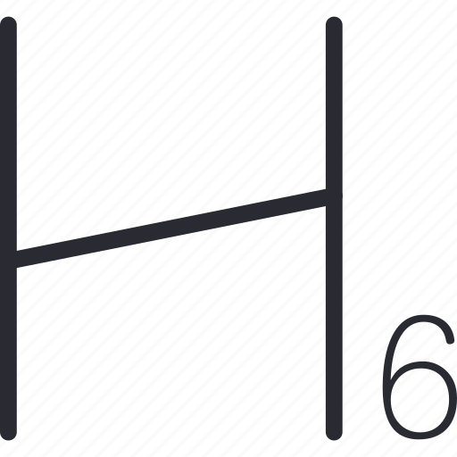editing, h6, sub, title icon