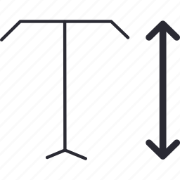 arrow, down, editing, scale, text, top, vertical icon
