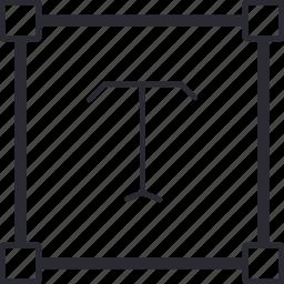 area, editing, text, write, zone icon