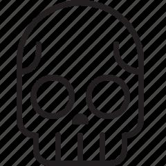 dead, line, poison, skeleton, skull icon