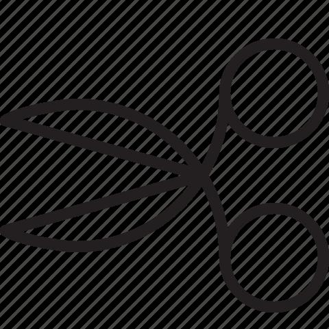 cut, cutting, design, line, scissor, tool icon