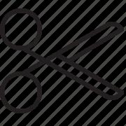cut, line, scissor, tool, work icon