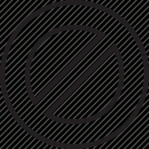 block, denied, line icon