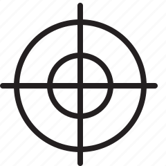 aim, crosshair, goal, line, target icon