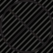 block, delete, denied, line icon