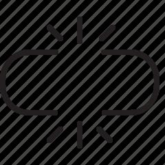 broken, internet, line, link icon