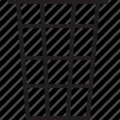 bin, delete, garbage, line, remove, throw, trash icon