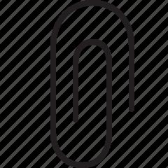 clip, line, paper clip, tool icon