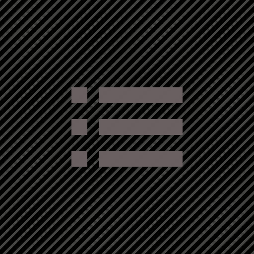 bullet, check, checklist, list, menu, navigation icon