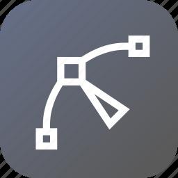 arrow, curve, edit, node, nodes, path, point icon