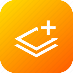 add, layer, layers, paper, plus, stack icon