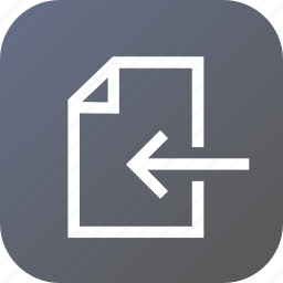 bitmap, enter, export, file, in, left, outside icon