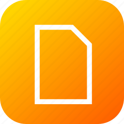 document, documents, file, new, page, paper icon
