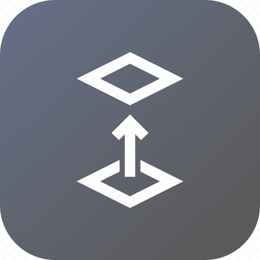 above, layer, layers, object, stack, switch, up icon
