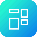 adjust, arrange, coloumns, grid, object, rows, shape icon