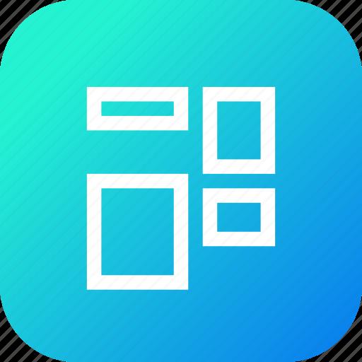 adjust, arrange, coloumns, grid, object, rows, shape icon