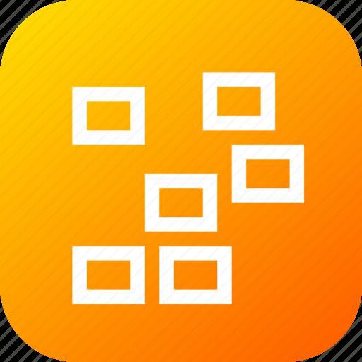 arrange, dimension, distance, object, randomized, rearrange icon