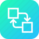 align, arrange, distribute, exchange, object, position, swap icon