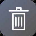 bin, delect, dustbin, garbage, recycle, trash, waste icon