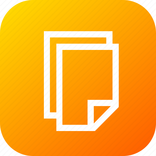 clone, copy, duplicate, page, paper, tool icon