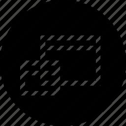 clone, copy, duplicate, rectangle, window icon