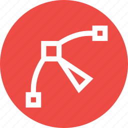 arrow, curve, edit, node, path, point, tool icon