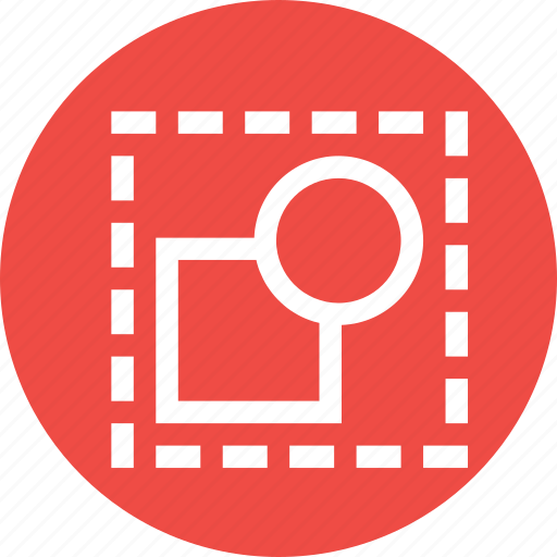 circle, deselect, design, dotted, shape, square icon