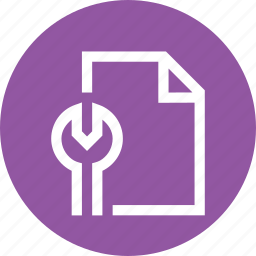 document, file, office, page, paper, setting icon