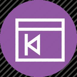 document, file, next, preivous, window icon