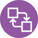 align, arrange, distribute, exchange, object, position, swap icon