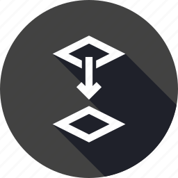 below, down, layer, layers, move, stack, switch icon