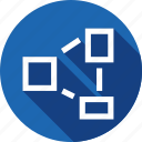 arrange, distance, equalize, object, rearrange, spacing icon